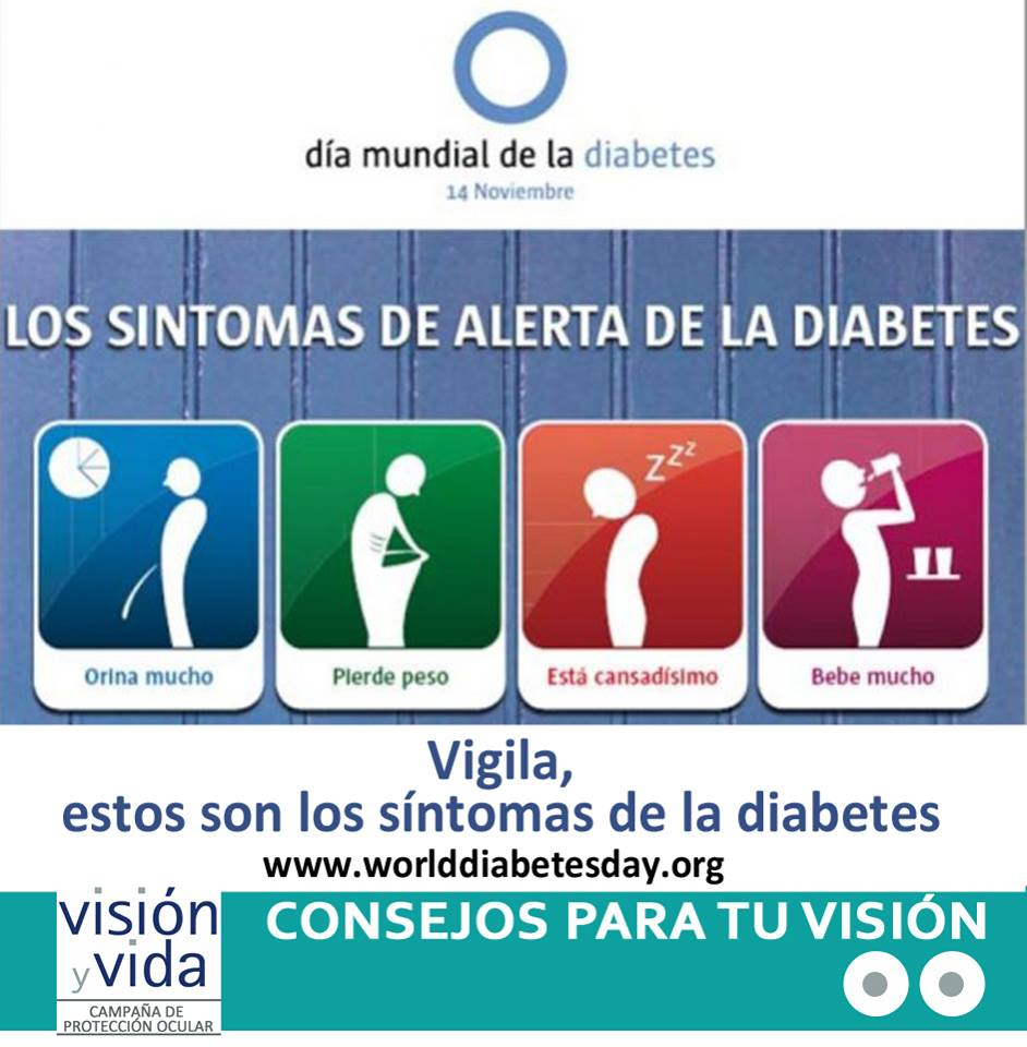 diabetes síntomas visión