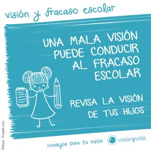 La mala visión puede conducir al fracaso escolar.